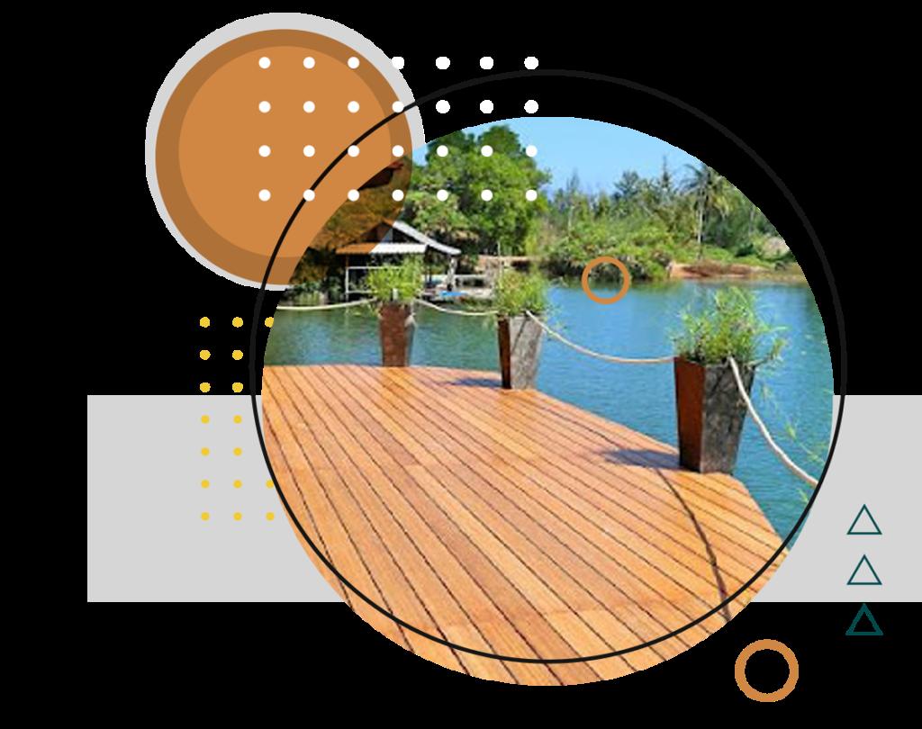 Deck Bambu Ripado